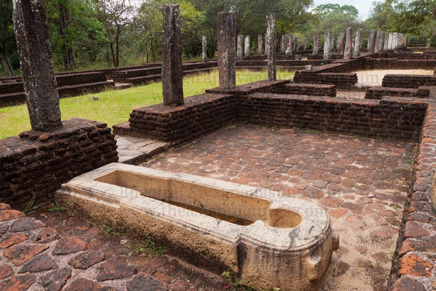 medical trough,ancient healing,sri lanka ayurveda,ayurveda bath,polonnaruwa heritage site