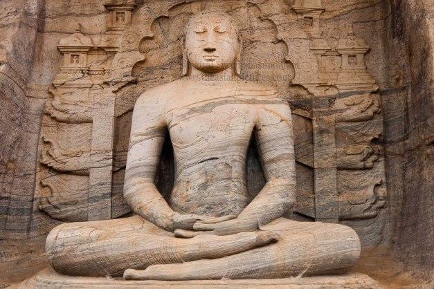 sri lanka,polonnaruwa,gal vihara,seated buddha statue,sitting buddha statue,samadhi buddha statue